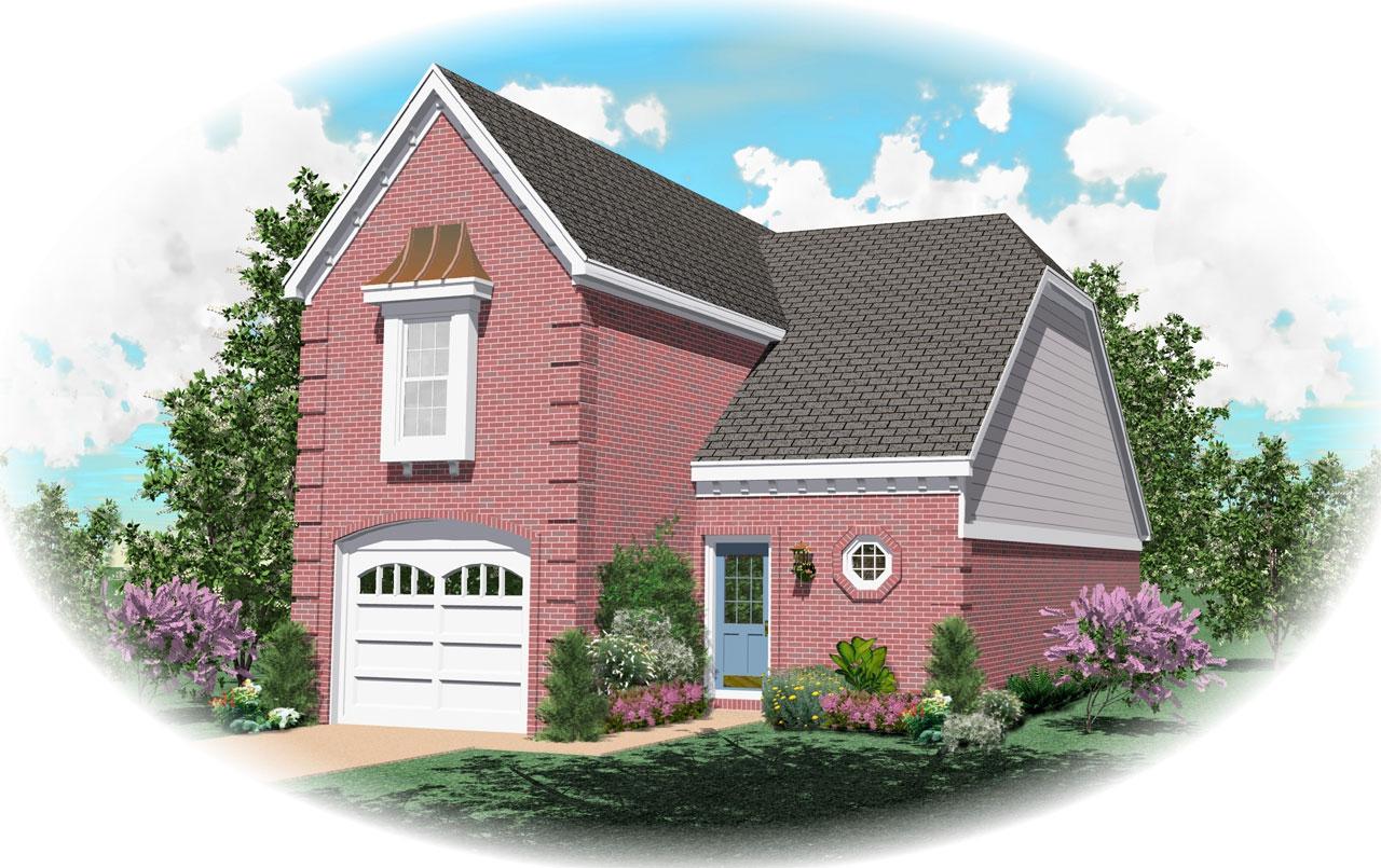 European Style House Plans Plan: 6-106