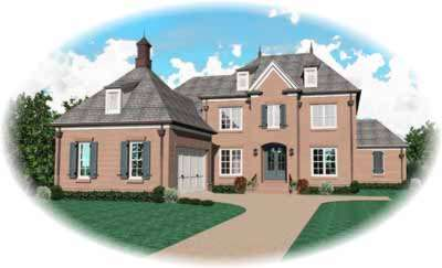 European Style House Plans Plan: 6-1063
