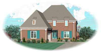 Traditional Style Home Design Plan: 6-1071