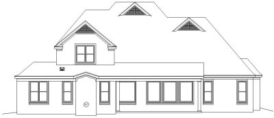 Rear Elevation Plan: 6-1081