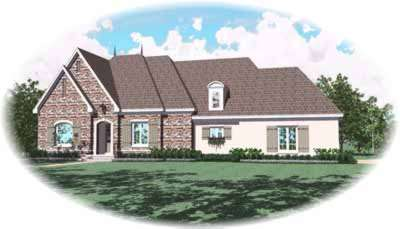 Traditional Style Home Design Plan: 6-1082