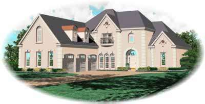 European Style House Plans Plan: 6-1094