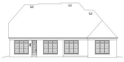 Rear Elevation Plan: 6-1096