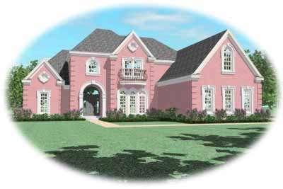 European Style House Plans Plan: 6-1098