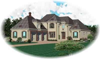 European Style House Plans Plan: 6-1101