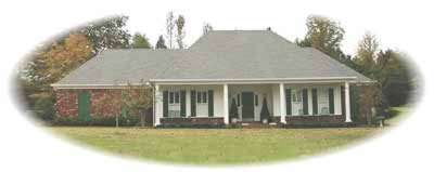 Southern Style Home Design Plan: 6-1102