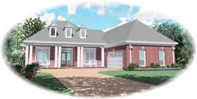 Southwest Style Floor Plans Plan: 6-1105