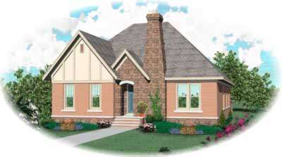 English-country Style Home Design Plan: 6-1106