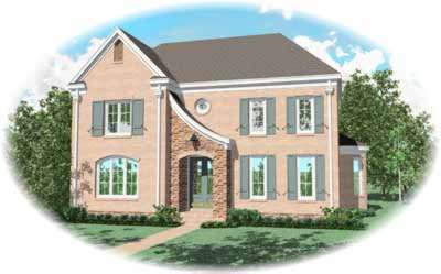 French-country Style Floor Plans Plan: 6-1107