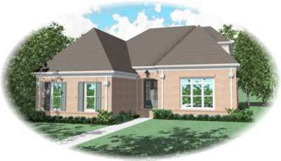 French-country Style House Plans Plan: 6-1110