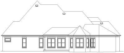 Rear Elevation Plan: 6-1118