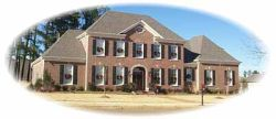 Colonial Style Home Design Plan: 6-1124