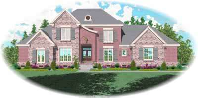 French-country Style Floor Plans Plan: 6-1125
