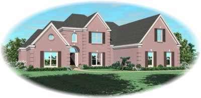 European Style Home Design Plan: 6-1129