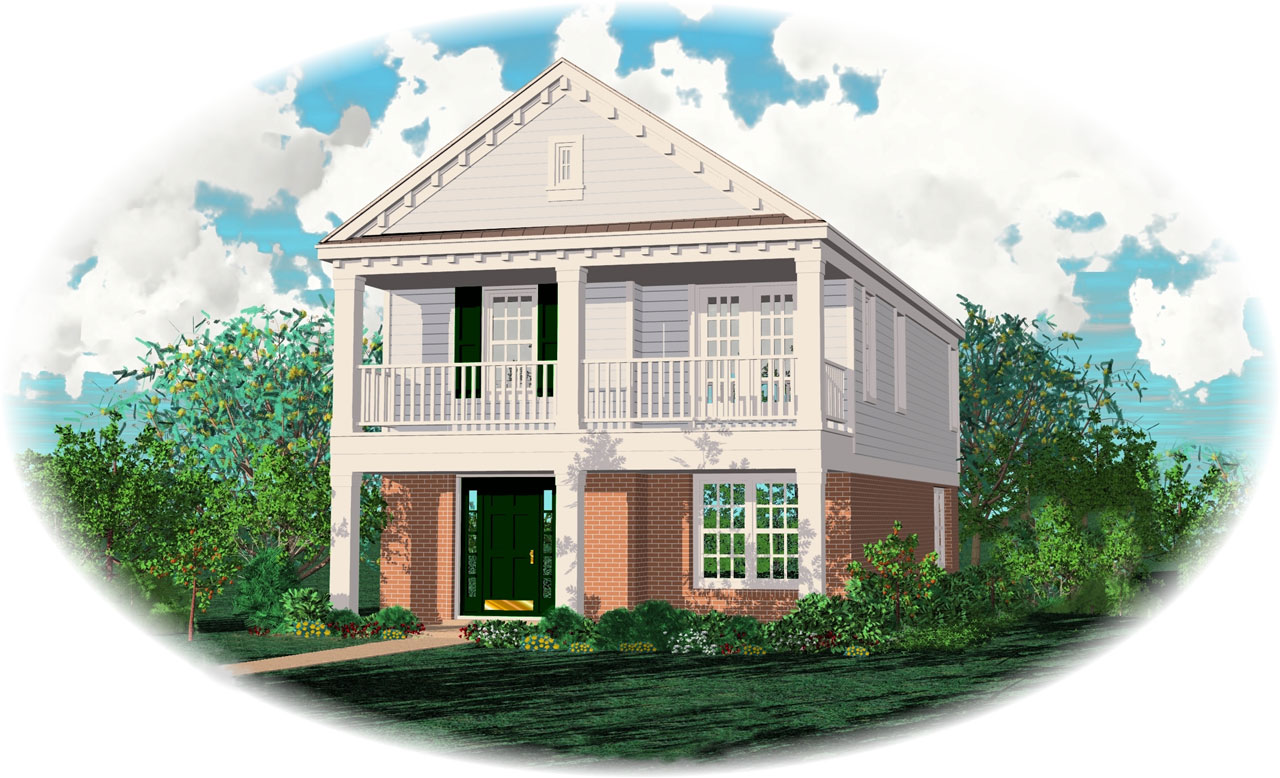 Southern Style Home Design Plan: 6-113