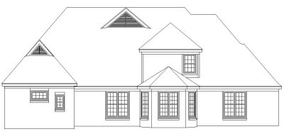 Rear Elevation Plan: 6-1132