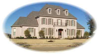 Southern-colonial Style Home Design Plan: 6-1134