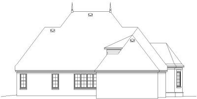 Rear Elevation Plan: 6-1135