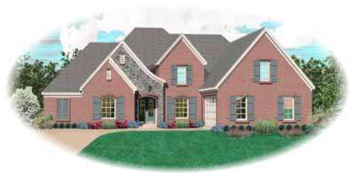 French-country Style House Plans Plan: 6-1137