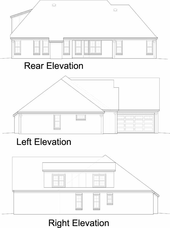 Rear Elevation Plan: 6-1138