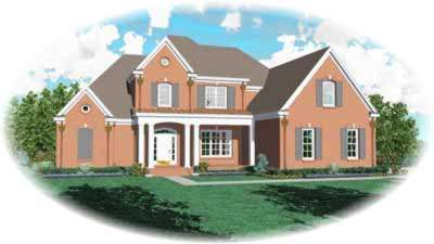 Southern-colonial Style House Plans Plan: 6-1144