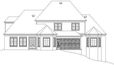 Rear Elevation Plan: 6-1146