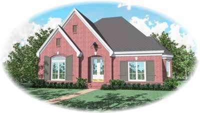 European Style House Plans Plan: 6-1150