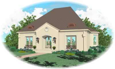 European Style House Plans Plan: 6-1152