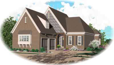 English-country Style House Plans Plan: 6-1160