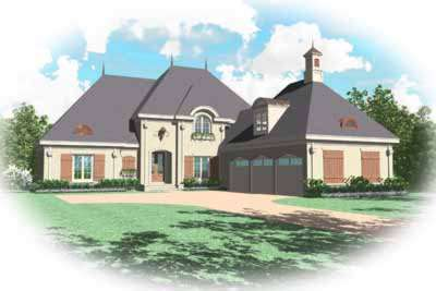 French-country Style House Plans Plan: 6-1168
