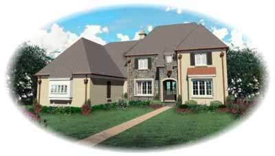 English-country Style House Plans Plan: 6-1170