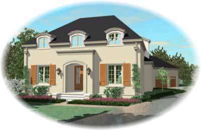 French-country Style Floor Plans Plan: 6-1171