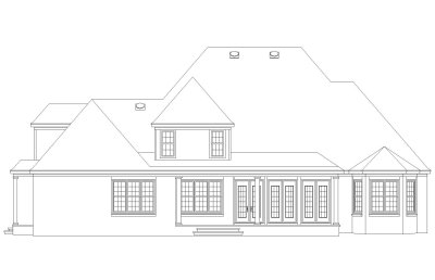 Rear Elevation Plan: 6-1173