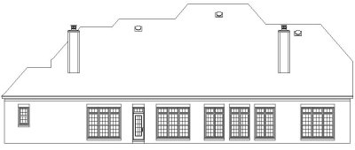 Rear Elevation Plan: 6-1174
