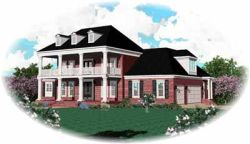 Plantation Style Home Design Plan: 6-1175