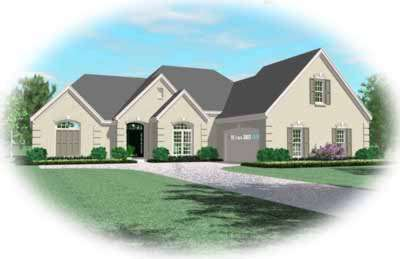 European Style House Plans Plan: 6-1184