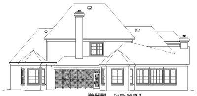 Rear Elevations Plan:6-1185