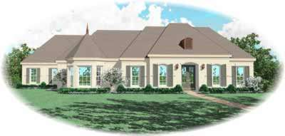 European Style House Plans Plan: 6-1189