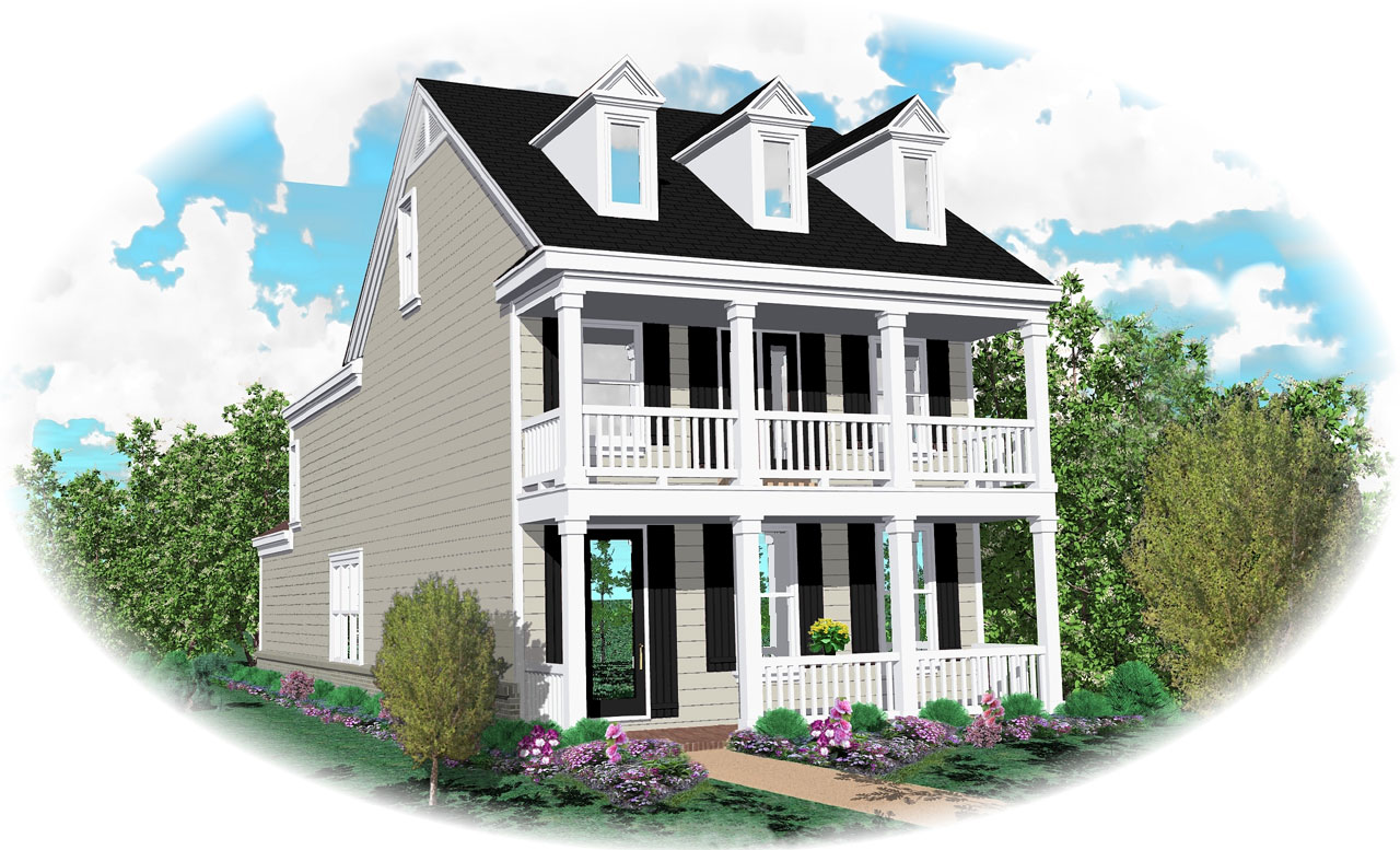 Southern-colonial Style House Plans Plan: 6-119