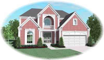 European Style House Plans Plan: 6-1190