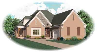 European Style House Plans Plan: 6-1193