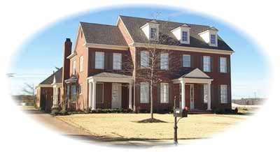 Southern-colonial Style Home Design Plan: 6-1198
