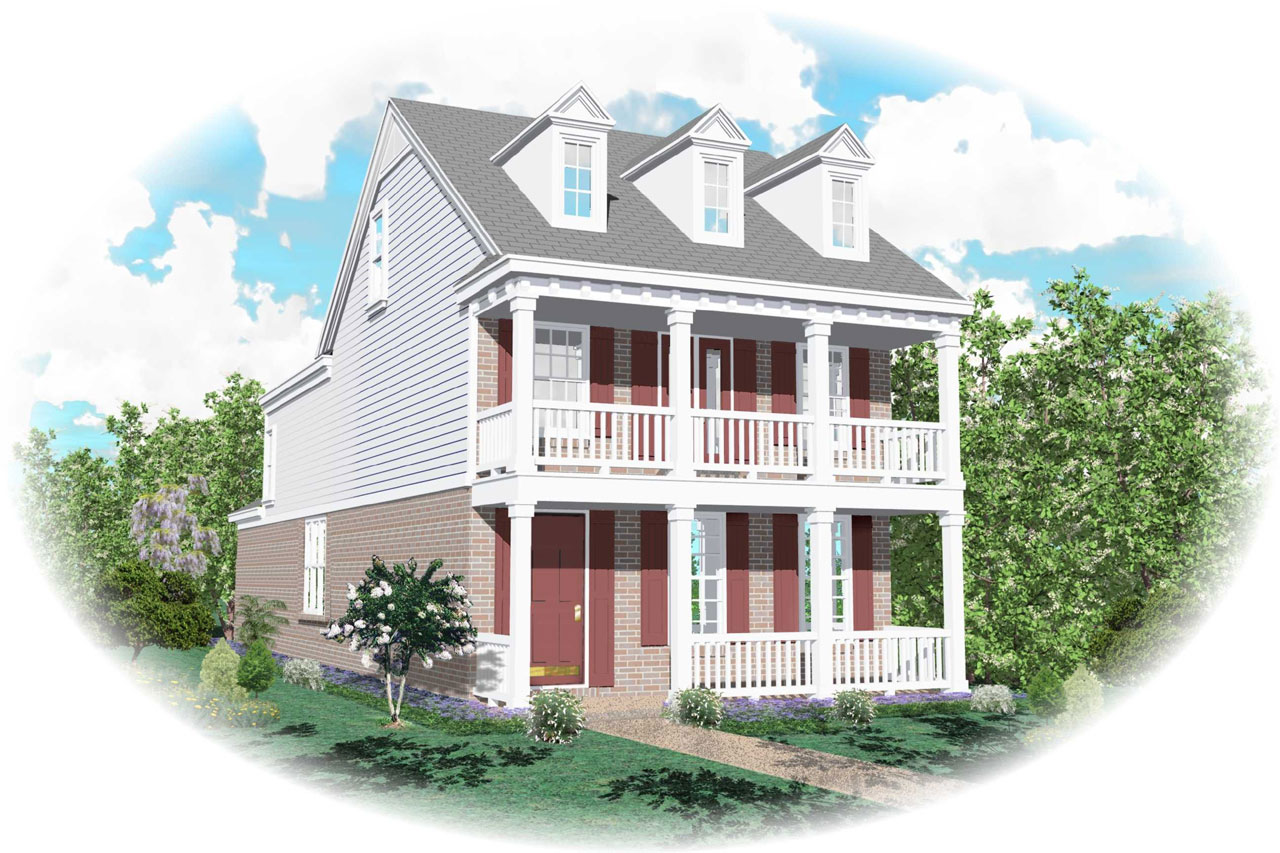 Southern-colonial Style Floor Plans Plan: 6-120