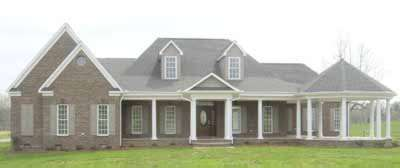 Southern Style Home Design Plan: 6-1200