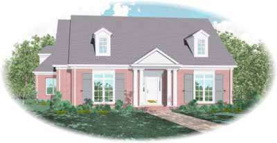 Southern-colonial Style House Plans Plan: 6-1207