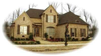 European Style Home Design Plan: 6-1208