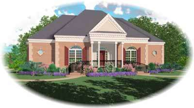 Southern Style Floor Plans Plan: 6-1212