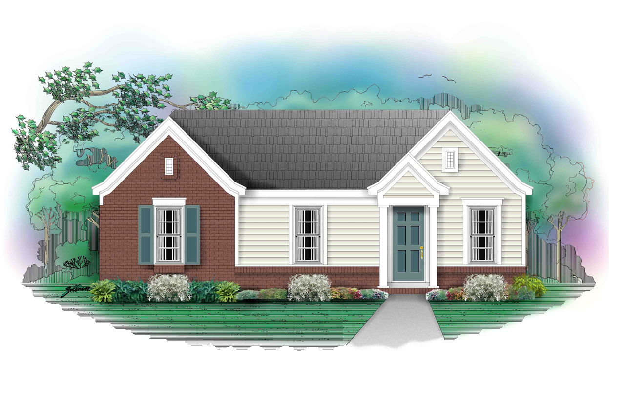 Traditional Style Home Design Plan: 6-122