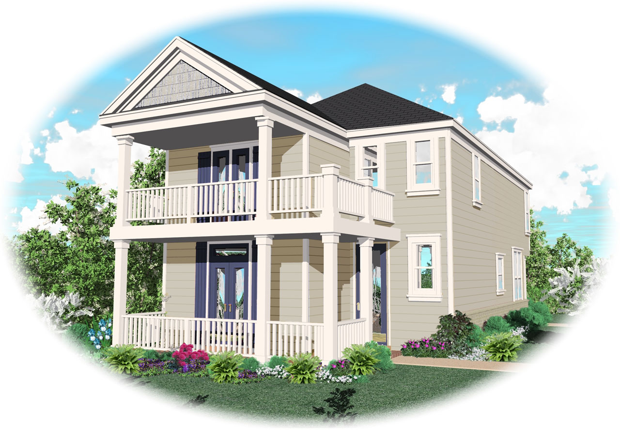Southern Style Home Design Plan: 6-123