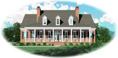 Country Style Floor Plans Plan: 6-1237